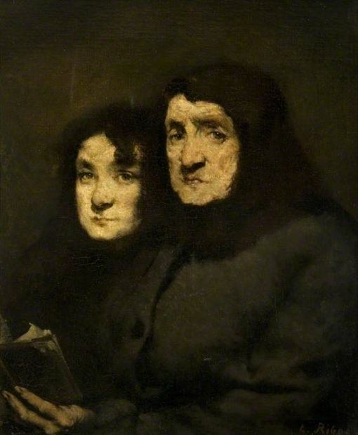 Mother and Daughter | ThEodule Augustin Ribot | Oil Painting