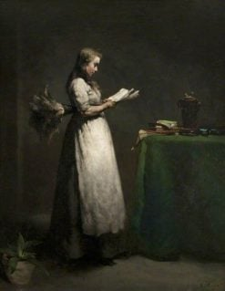 The Studious Servant | ThEodule Augustin Ribot | Oil Painting