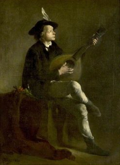 The Musician | ThEodule Augustin Ribot | Oil Painting