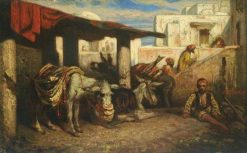An Arab Boy with Donkeys | Alexandre Gabriel Decamps | Oil Painting