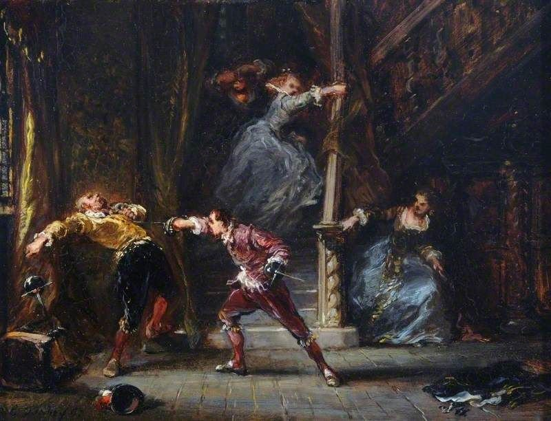 The Duel Painting | Eugene Isabey Oil Paintings