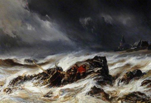 The Wreck   Eugene Isabey   Oil Painting