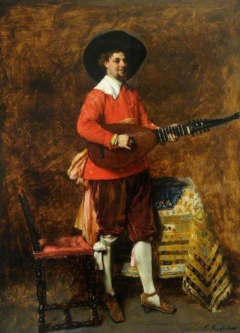 Man with a Guitar | Ferdinand Roybet | Oil Painting