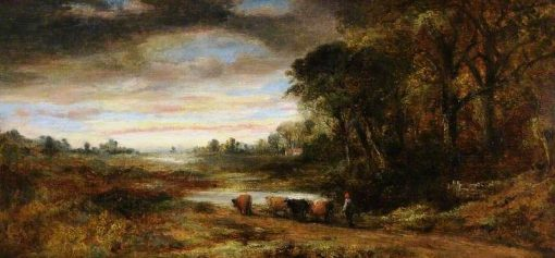 Landscape with Cattle | Frederick Waters Watts | Oil Painting