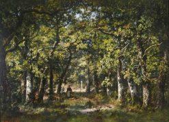 Bas Breau in the Forest of Fontainebleau | Narcisse Dìaz de la Peña | Oil Painting
