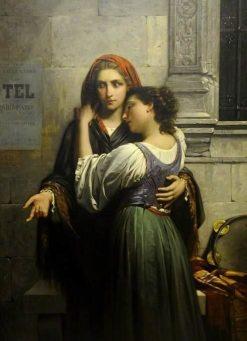 The Beggar Girls | Pierre Auguste Cot | Oil Painting