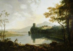 Dolbadern Castle and Llanberis Lake | Richard Wilson