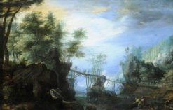 Wooded Landscape with a Bridge | Roelant Savery | Oil Painting