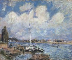Boats on the Seine | Alfred Sisley | Oil Painting
