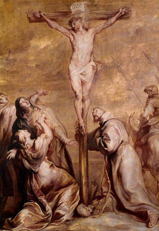 Crucifixion with Saint Francis | Anthony van Dyck | Oil Painting