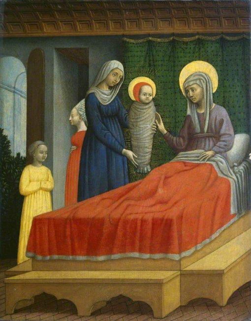 Birth of Saint Augustine | Antonio Vivarini | Oil Painting