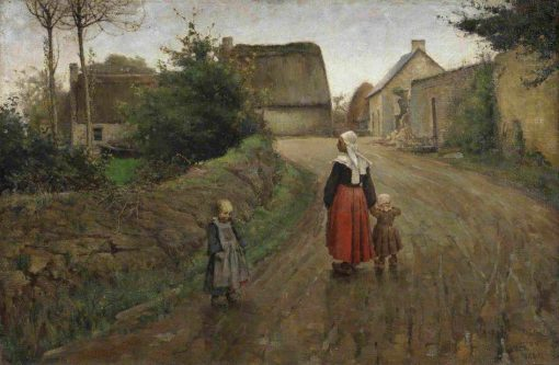 Street in Pont Aven | Archibald Standish Hartrick | Oil Painting