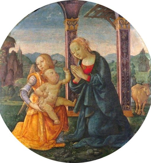 Virgin and Child with an Angel | Bartolomeo di Giovanni | Oil Painting