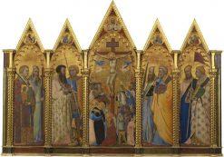 Crucifixion with Saints | Bernardo Daddi | Oil Painting