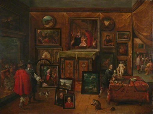 The Interior of a Picture Gallery   David Teniers II   Oil Painting
