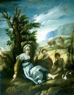 Adam and Eve at Work   Domenico Fetti   Oil Painting