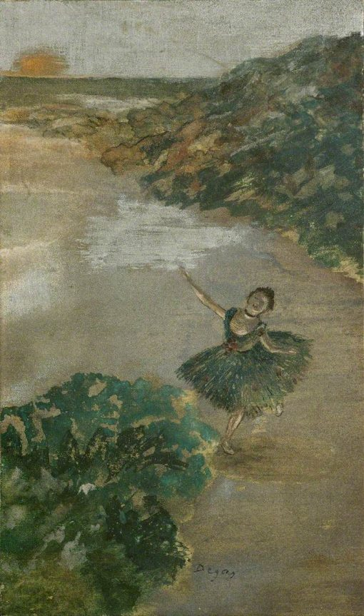 Dancer on a Stage | Edgar Degas | Oil Painting