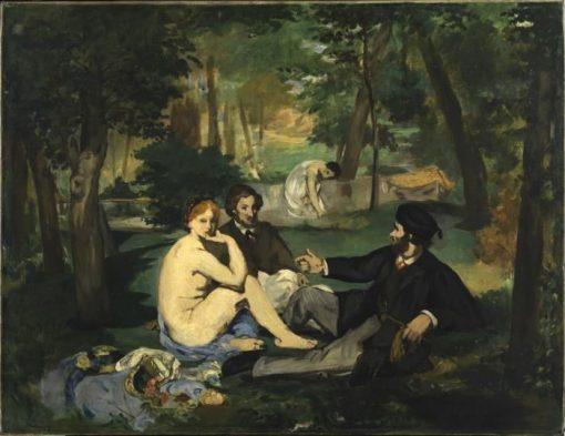 Dejeuner sur l'herbe (Second version) | Edouard Manet | Oil Painting