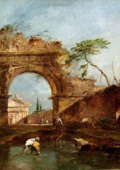 Landscape: Capriccio | Francesco Guardi | Oil Painting