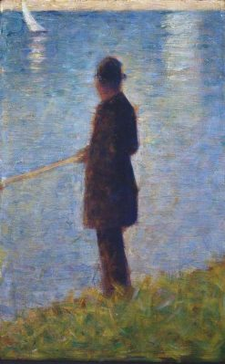 Angler   Georges Seurat   Oil Painting