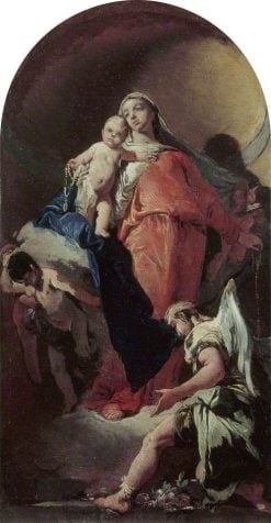 Virgin and Child with an Angel   Giovanni Battista Tiepolo   Oil Painting