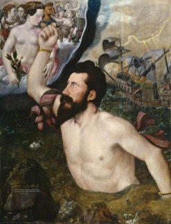 Allegorical Portrait of Sir John Luttrell   Hans Eworth   Oil Painting