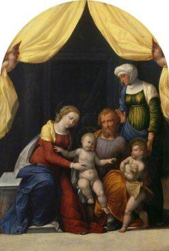 Holy Family with the Infant Saint John and Saint Elizabeth | Il Garofalo | Oil Painting
