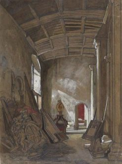 Interior of a Small Room in Norwich Cathedral | John Sell Cotman | Oil Painting