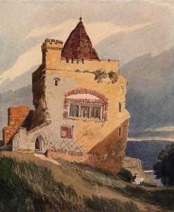 Ruined Hilltop Abbey with Seated Artists Sketching | John Sell Cotman | Oil Painting