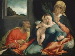 Holy Family with Saints Anne and Joachim | Lorenzo Lotto | Oil Painting