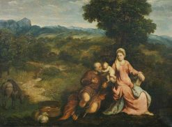 Rest on the Flight into Egypt | Paris Bordone | Oil Painting