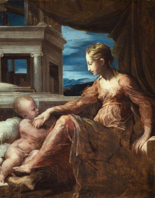 Virgin and Child   Parmigianino   Oil Painting