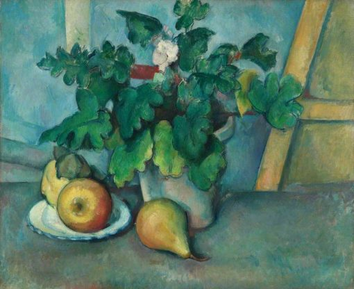 Pot of Primroses and Fruit | Paul CEzanne | Oil Painting