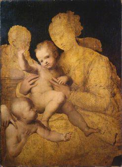 Holy Family with Saint John the Baptist | Perino del Vaga | Oil Painting