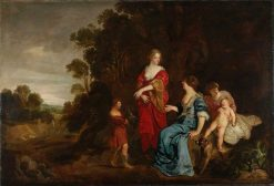 Reuben Presenting Mandrakes to Leah | Peter Lely | Oil Painting
