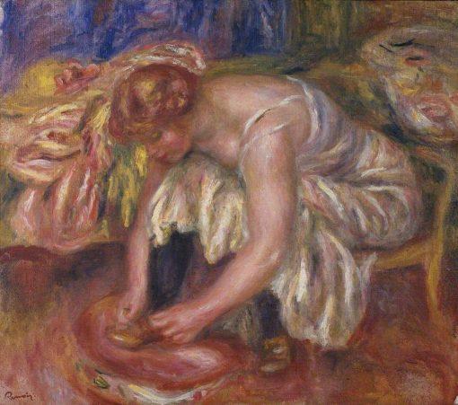 Woman Tying her Shoe | Pierre Auguste Renoir | Oil Painting