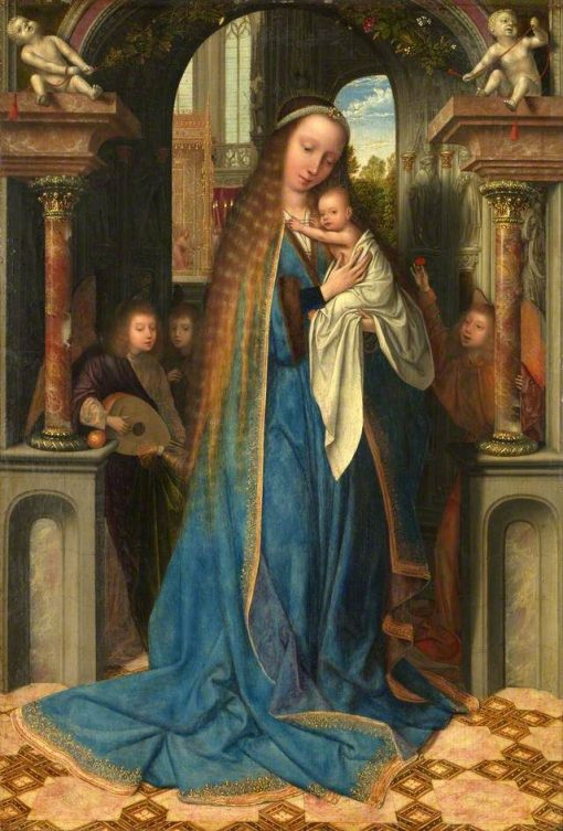 The Virgin and Child with Angels | Quentin Massys | Oil Painting
