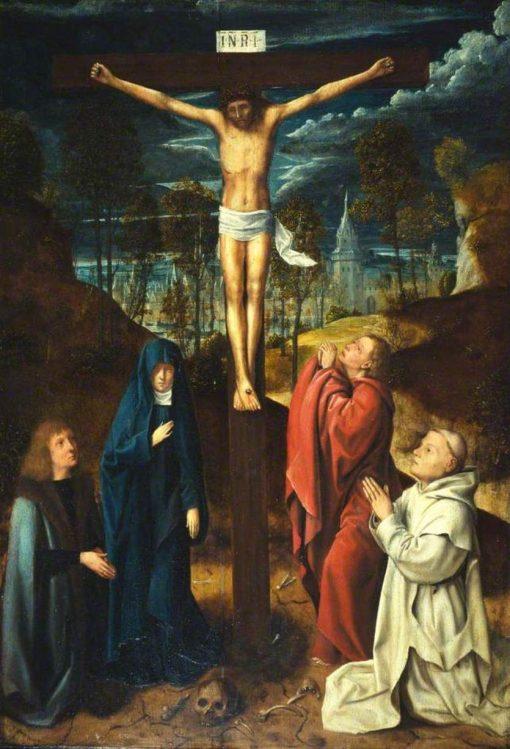 Christ on the Cross Between the Virgin