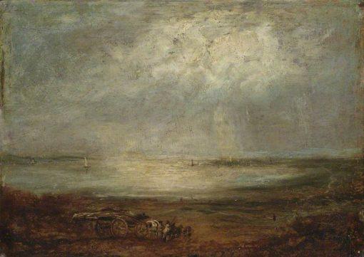 Beach Scene with Cart and Horse | Richard Parkes Bonington | Oil Painting