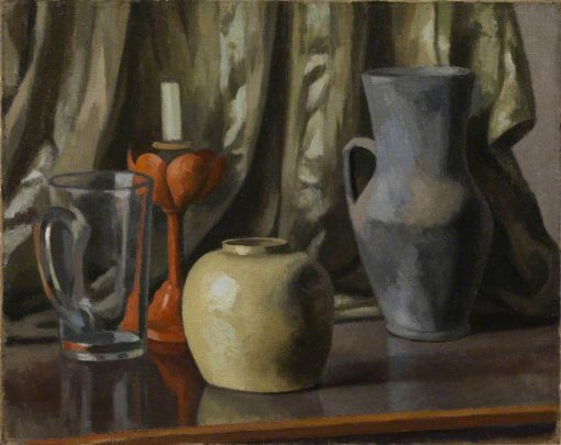 Still Life with Candle and Earthenware Pots   Roger Eliot Fry   Oil Painting