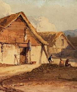 Farm building near Tavistock | Samuel Prout | Oil Painting
