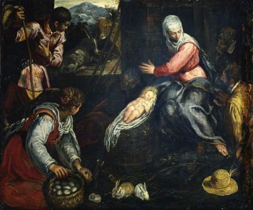 Adoration of the Shepherds | Tintoretto | Oil Painting