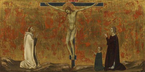 Crucified Christ with Donors | Ugolino di Nerio | Oil Painting