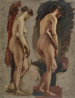 Two Full-Length Standing Nudes