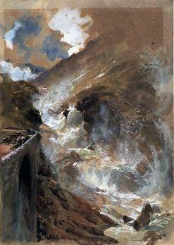 Mountain torrent - St Gothard | William James Muller | Oil Painting