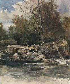 Salmon trap at Dolwyddelan | William James Muller | Oil Painting