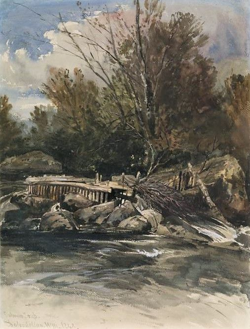 Salmon trap at Dolwyddelan | William James Muller | Oil Painting