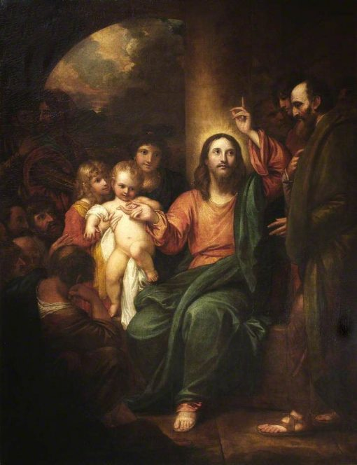 Christ Presenting a Little Child   Benjamin West   Oil Painting