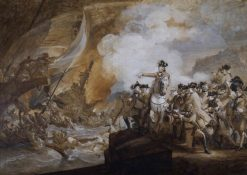 The Siege of Gibraltar (sketch) | John Singleton Copley | Oil Painting