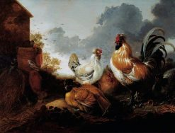 Poultry in a Farmyard | Abraham van Calraet | Oil Painting